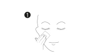 applicazione maschere cosmetiche viso monouso: step 1, detergere