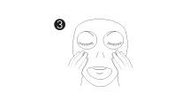 applicazione maschere cosmetiche viso monouso: step 3, applicare e lasciare in posa