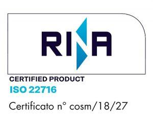 azienda cosmetica certificata ISO 22716